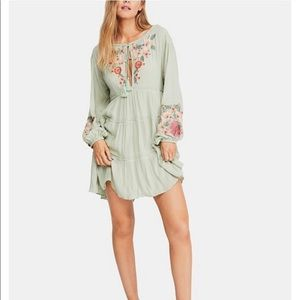 Free People Spell On You Embroidered Keyhole Dress